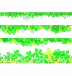 leaves banners vector image vector image