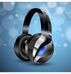 modern big headphones vector image