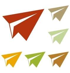 Paper airplane sign vector image vector image