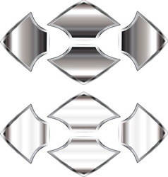 Silver arrows resize vector image