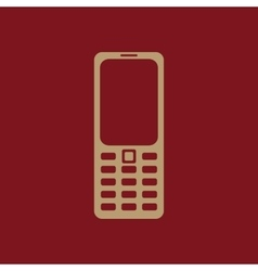 The phone icon Cellphone symbol vector image
