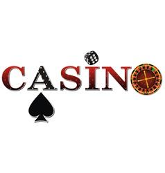 casino roulette black vector image