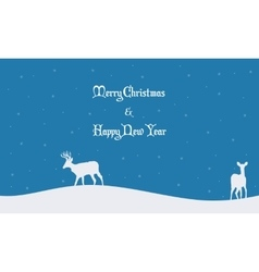 Merry Christmas scenery winter collection vector image vector image