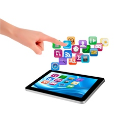 touch tablet user interface vector image vector image