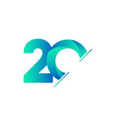 20 years anniversary celebration tosca green vector
