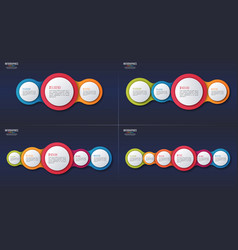 3 4 5 6 options infographic designs vector image