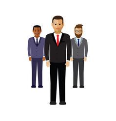 A group business men vector