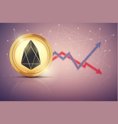 background of eos exchange trading vector image