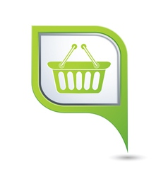 basket icon green map pointer vector image