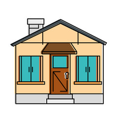 beautiful front of house vector image