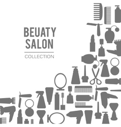 Beauty store background Hand drawn vector