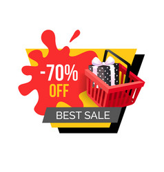 Best sale 70 percent off price reduction discount vector
