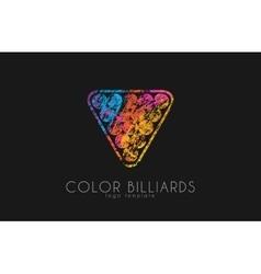 Billiard ball logo Billiard logo Color ball logo vector