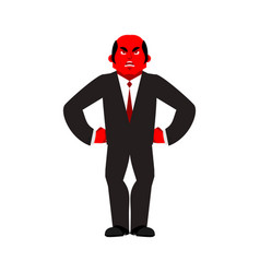 boss angry red businessman evil business men vector image