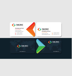 Business cards for tour operator and travel agent vector image colourmoves