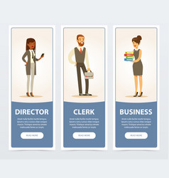 Business people company staff business banners vector