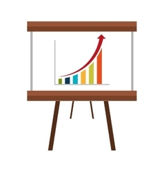 Business statistics flat icon design vector
