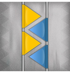 business triangles blue yellow vector image