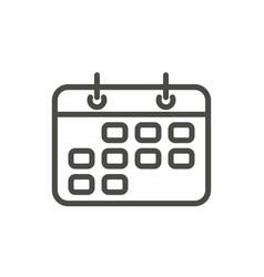 calendar icon line reminder symboll vector image