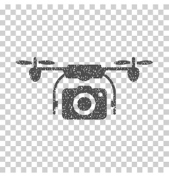 Camera Drone Grainy Texture Icon vector