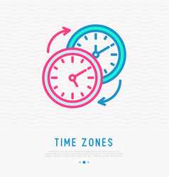 changing time zones symbol vector image