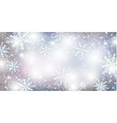 christmas background design of falling snowflake vector image
