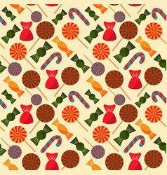 colorful candy christmas seamless pattern for vector image