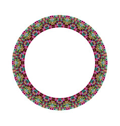 Colorful isolated geometrical tiled mosaic circle vector