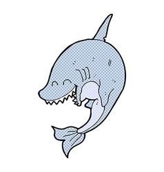 Comic cartoon shark vector