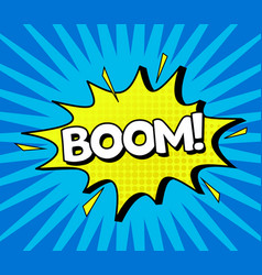 comic speach bubble effect boom vector image