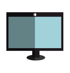 computer desktop with template icon vector image vector image