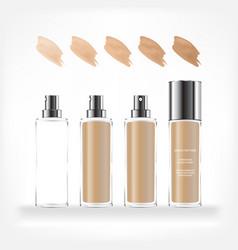 Cosmetic transparent bottle vector