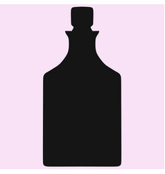 crystal decanter silhouette vector image