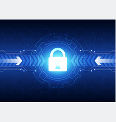 cyber security technology background composed of vector image