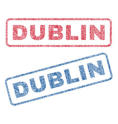 dublin textile stamps vector image vector image