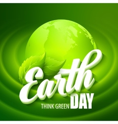 Earth Day with the words vector image