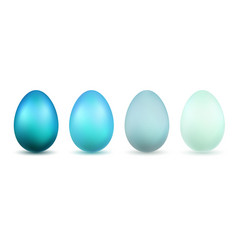 easter egg 3d icons blue bright and pastel eggs vector image