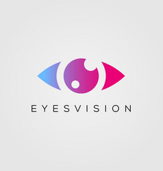 Eye logo design template beauty eyes vision icon vector