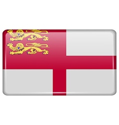 Flags Sark in the form of a magnet on refrigerator vector