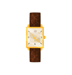 flat icon of stylish women wrist watch with vector image