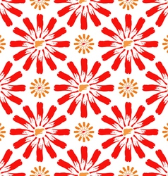 Flowers of paint strokes vector