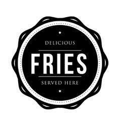 Fries vintage stamp vector image
