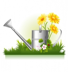 garden watering vector image