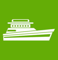 great powerboat icon green vector image