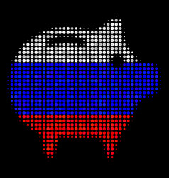 Halftone russian piggy bank icon vector