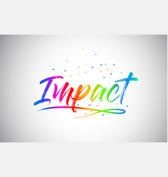 impact creative vetor word text with handwritten vector image