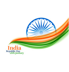 indian republic day creative tricolor background vector image