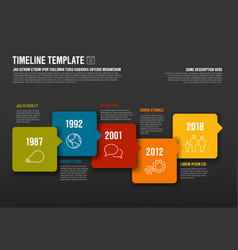 infographic horizontal timeline template made vector image