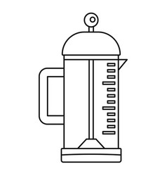 infusion coffee pot icon outline style vector image