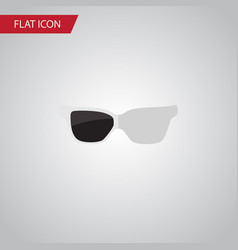 Isolated sunglasses flat icon spectacles vector
